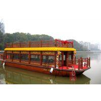辽宁木船厂出售水上餐饮船 观光旅游船 画舫船 房子船 服务类船出售