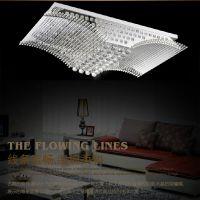 卧室现代简约客厅灯餐厅灯全高光大鹏展翅吸顶灯水晶灯饰灯具