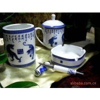 创意红瓷企业商务会议广告促销陶瓷茶具保温杯礼品套装定制logo