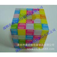 厂家定制批发 彩色印刷PVC产品包装盒 塑料透明外包装折叠胶盒