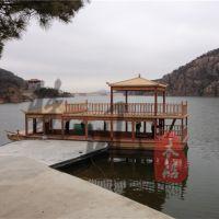 专业定制景观水上12m游玩画舫木船电动木船乌篷船摄影道具船服务类船