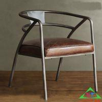 铁艺酒店餐饮桌椅美式复古实木快餐椅咖啡厅奶茶店背叉椅子特价