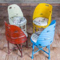 海德利厂家定制 欧式复古创意餐椅 金属软垫铁艺个性餐椅 批发
