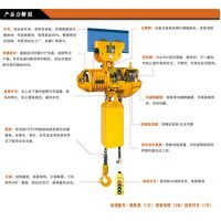 HHBB01-02双链 环链电动葫芦 稳速点控 固定不带跑车1吨5米 宝雕