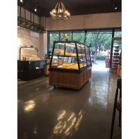 杭州惠利展柜厂家加工定制无锡格瑞思澳莎利组装黑铁实木面包展示柜HL039