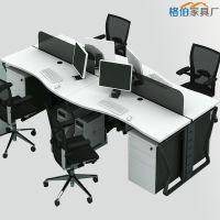 简约办公家具屏风办公桌工作位现代职员椅4人组合卡座办公网布椅