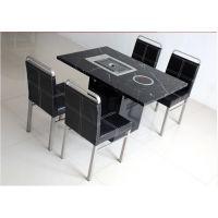 厂家专业定制韩式烧烤桌 烤涮一体电磁炉火锅桌椅
