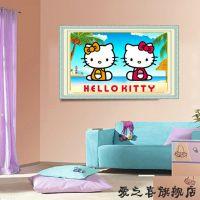 【加工定做】供应可爱猫造型钻石画K-6014 HELLOKITTY猫十字绣