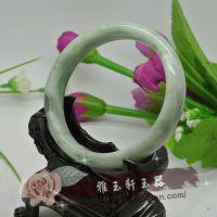 雅玉轩 天然正品贵州翠玉手镯 玉镯 可与翡翠手镯相媲美
