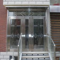 商铺304不锈钢大门304不锈钢玻璃门 批发定制 整体金属装饰策划