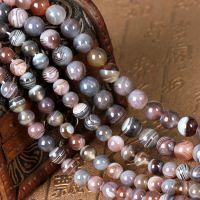 天然波斯玛瑙散珠条纹玛瑙玉髓原创手链串珠diy饰品配件材料配饰
