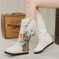 杭州汝美绣花鞋厂家绣花厂8210-16新款女式绣花布鞋民族布鞋