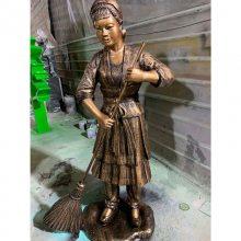 制作玻璃钢人物 仿铜雕中式人物雕塑 建筑物入口装饰雕塑人物