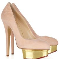 定做小S同款金色防水台细跟圆头超高跟单鞋大牌明星款真皮高跟鞋