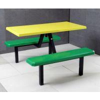 学生食堂餐桌 户外四人位连体快餐桌椅 长方形桌子 惊爆低价条凳东莞