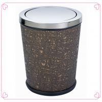 厂家批发七天连锁酒店客房垃圾桶|不锈钢锥形摇盖房间垃圾桶|医院小号废纸桶