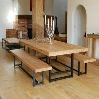 美式铁艺实木桌椅休闲咖啡厅餐桌椅复古餐厅餐桌实木 餐桌椅组合
