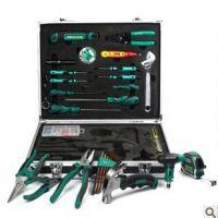 超豪华55件工具套装 铝合金箱家用工具套装 维修工具箱 装修工具
