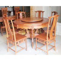明式圆形餐桌 餐厅 饭桌 明清古典实木红木家具 厂家直销 热销