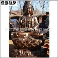 户外大型铸铜观世音菩萨铜雕 祈福景观人物雕塑 慈悲大使观音铜像