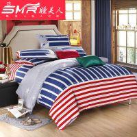 欧美夏天韩版家纺纯棉四件套全棉被套床品精品批发一件代发床单