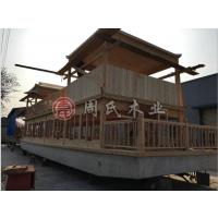 厂家供应江苏周氏木业16.8米H-02大型观光船 水上餐饮画舫船电动游船出售