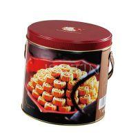 杏仁饼铁罐带手提 薄脆饼干马口铁盒 夹心饼干铁罐
