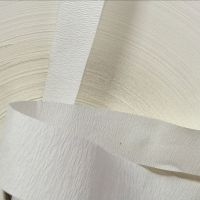 供应进口40-110克白色皱纹纸 封口纸 美纹纸