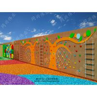 京同兴伟业厂家直销幼儿户外玩具,儿童木制攀爬,组合滑梯,亲子乐园