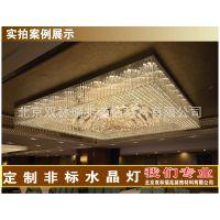 中元之光星级酒店方形豪华水晶灯大型酒店 水晶吸顶灯非标别墅LED灯饰定制