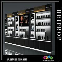 美甲店展示柜  指甲油展示柜  化妆品展示柜  精品展示柜免费设计