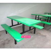 梅州餐桌椅组合八人座 玻璃钢学生吃饭桌 八人长方形餐桌厂家直销
