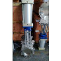 气动不锈钢插板阀、对夹式气动插板阀、耐磨气动插板阀