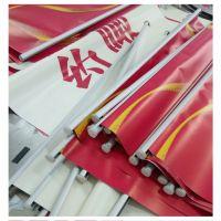 深圳双喷布高精度户外写真喷绘 4S店吊旗 喷画挂画挂轴 夹黑双面吊旗