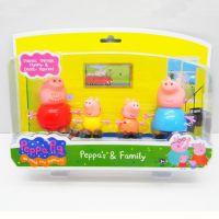 粉红小猪 佩佩猪 peppa pig 塑料粉红猪小妹 乔治猪 搪胶公仔玩具
