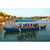 8米贡多拉木船 公园景区观光手划船 酒店观光装饰船 贡多拉旅游船