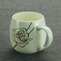 陶瓷肚杯 骨质瓷杯子 奶茶杯 加logo 加画面 礼品促销水杯