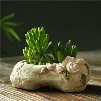 ZAKKA家居异形花盆创意韩式手绘花盆外贸出口工艺品多肉花盆04140