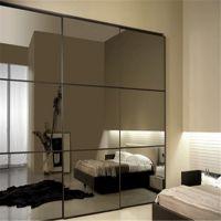灰镜玻璃厂加工 背景墙灰镜装饰 菱形灰镜 价格合理 质量可靠
