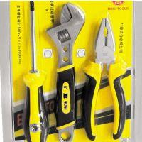 批发零售品牌波斯工具新款塑装3件家用套装工具钳子扳手螺丝刀组