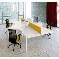 观澜办公桌四人组Smart-WS-001,时尚简洁办公桌隔断订制