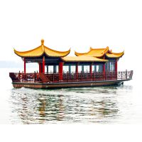 供应杭州西湖仿古画舫船 仿古观光游览客船