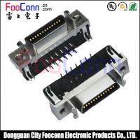 东莞富上供应1.27mm SCSI 26P CN型90度插板母座