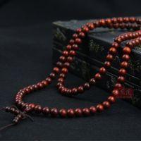 印度 小叶紫檀手链 佛珠手链  DIY手串散珠 同料顺纹正圆小孔