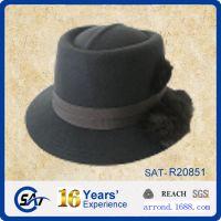 工厂供应来样来图出口定做纯羊毛呢毡男女士春冬季礼帽子gambler