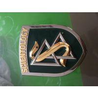 西安车友会车标订做、金属汽车标志制作 三维不锈钢发光车标厂家