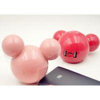 现代移动电源可爱充电宝 迪士尼卡通米奇球移动电源12000毫安手机