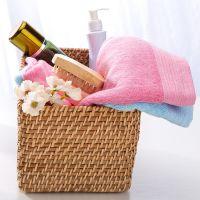 菲苒木纤维毛巾厂家直销,柔软吸湿加厚宽缎非染色面巾,印字加工;34*77cm,130克