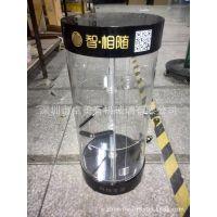 深圳有机玻璃制品 LED灯箱 六角型旋转展示灯箱 亚克力圆型灯箱