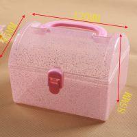 迷你手提PP塑料盒 文具礼品包装 小型塑料收纳盒 厂家专供